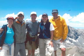 On a mountaintop during a staff camping trip in 2005.
